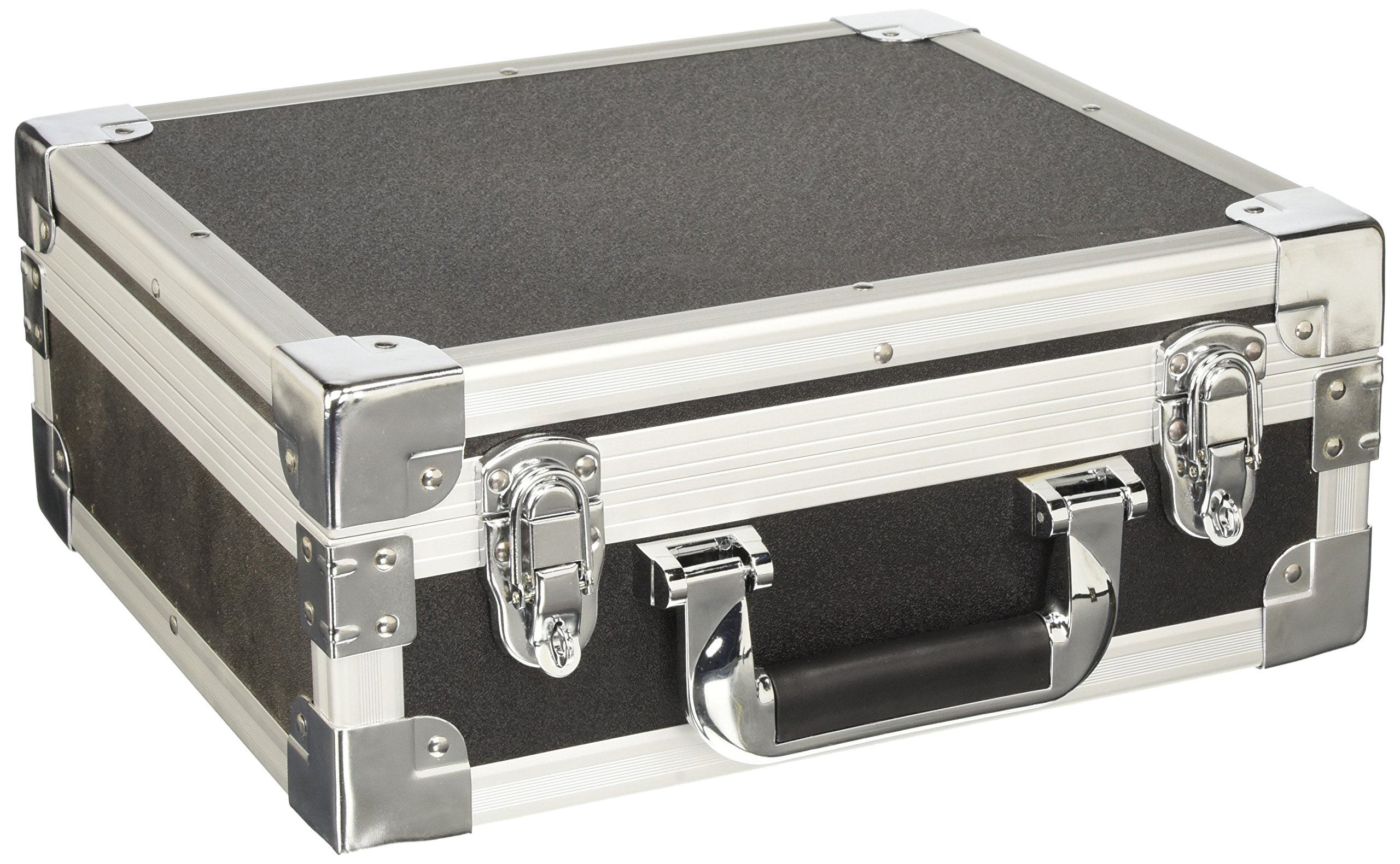 SRA Cases Heavy Duty Aluminum Hard Case, Black, 13 x 11 x 5.1 Inches by SRA Cases