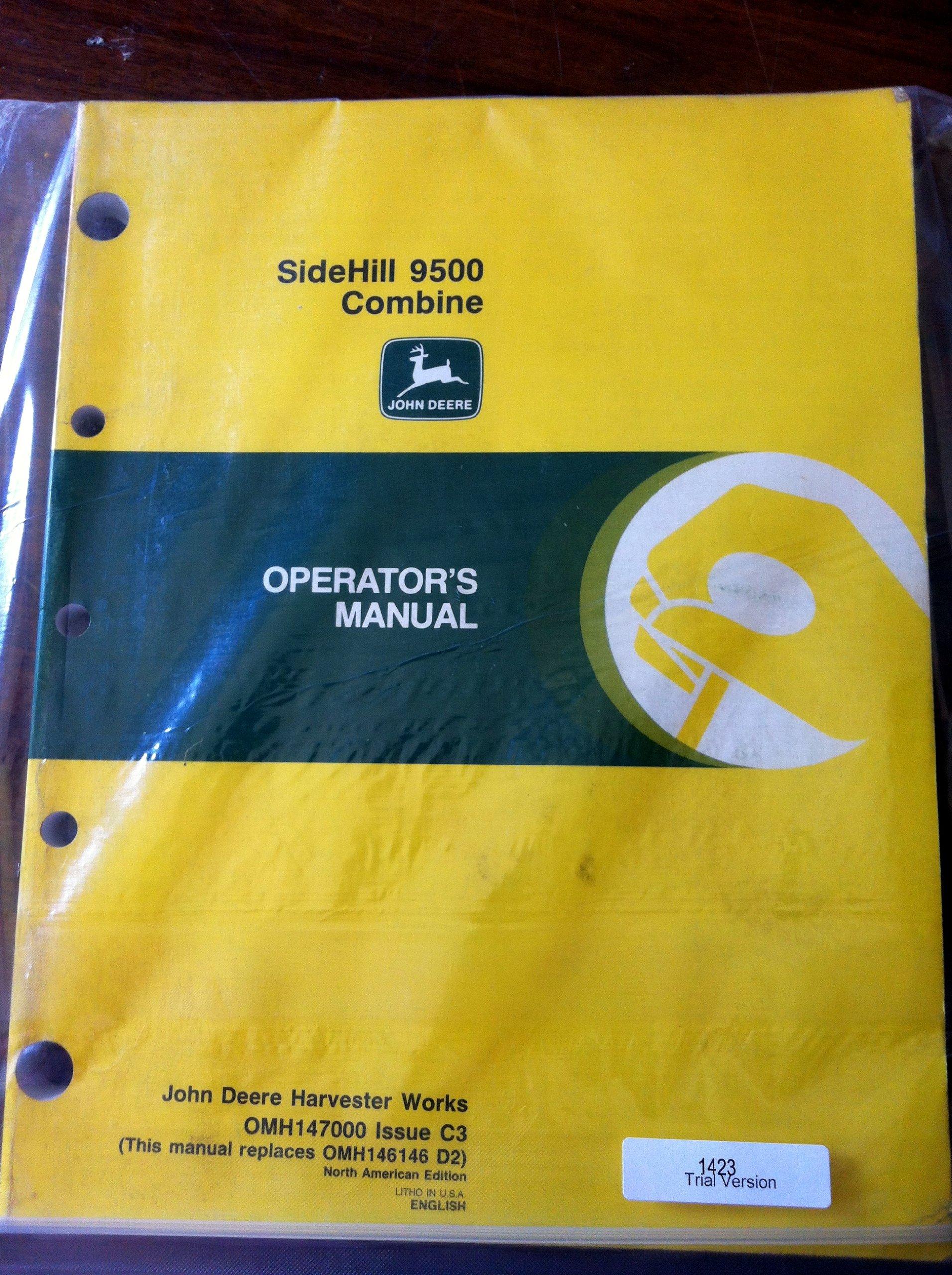 john deere 9400 9500 9600 combines oem operators manual john