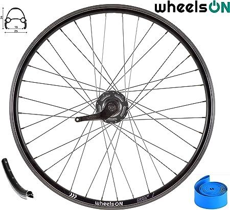 700c wheelsON Wheel Set Front and Rear Shimano Nexus 3 Coaster Brake Black