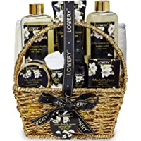 Bath and Body Gift Basket for Women and Men – Orchid and Jasmine Home Spa Set With Body Scrubs, Lotions, Oils, Gels and…