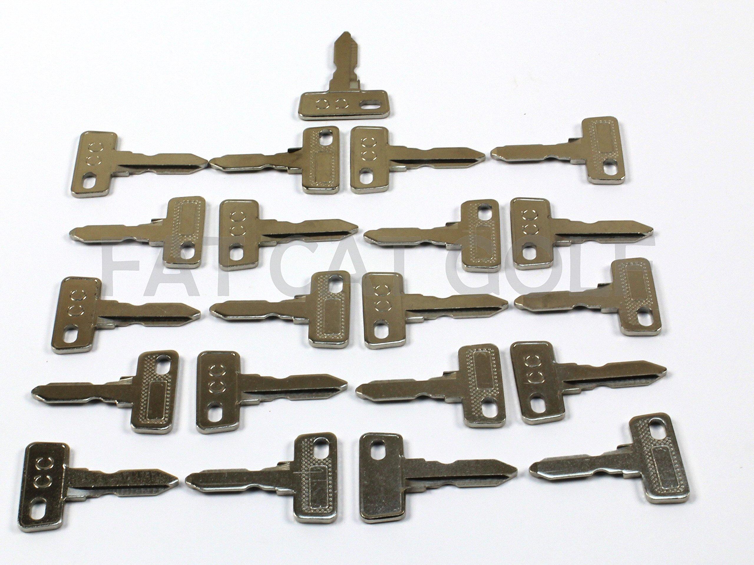 Club CAR Key for All Stock Club CAR Golf CARTS (Set of 25)