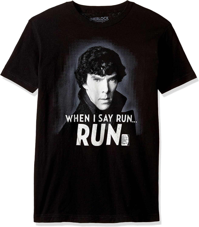 Sherlock Men's When I Say Run T-Shirt