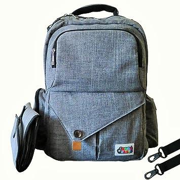 Amazon.com: Elegante Gris bebé mochila para pañales ...