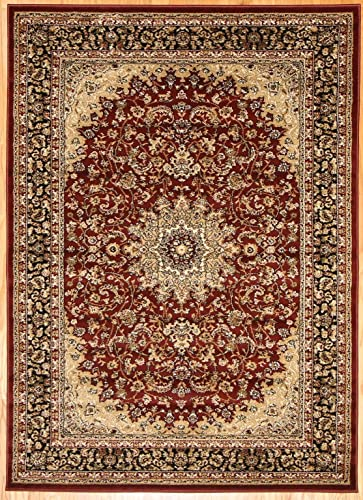 Feraghan New City Traditional Isfahan Wool Persian Area Rug, 8 x 10 , Burgundy