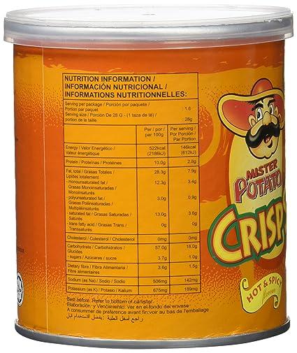 Mister Potato Crisps Hot & Spicy Snack Salado Con Sabor Picante - 45 g: Amazon.es: Amazon Pantry