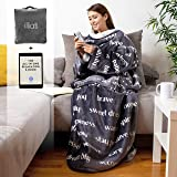 Wearable Healing Thoughts Blanket by illiati, Sherpa Fleece Throw Blanket, After Surgery Gifts, Breast Cancer Blanket, Inspir