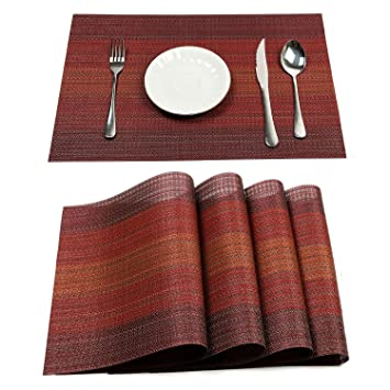 amazon pauwer placemats set of 6 heat insulation stain resistant