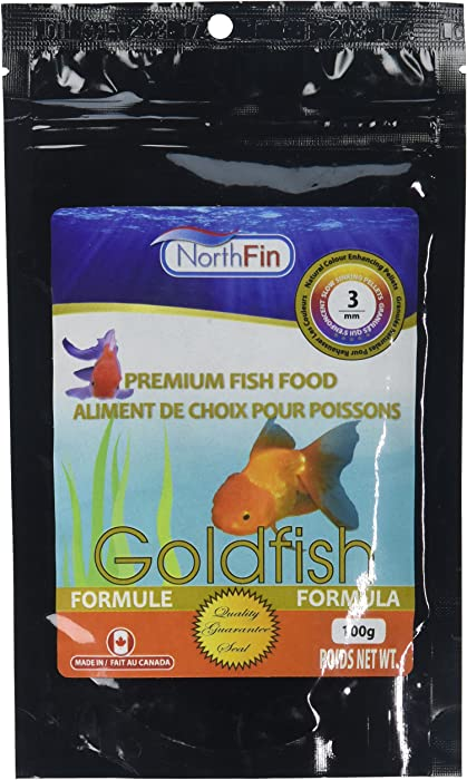 Northfin Food Goldfish Formula 3mm Pellet 100 Gram Package