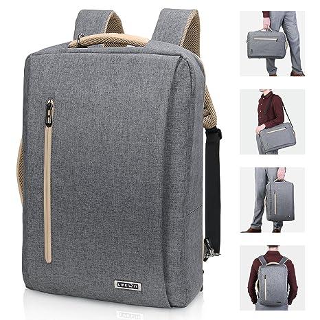 0ea4d115d6 Lifewit Convertible Backpack 15.6 inch Laptop Messenger Bag  Multi-Functional Shoulder BriefcaseHandbag with USB Charging