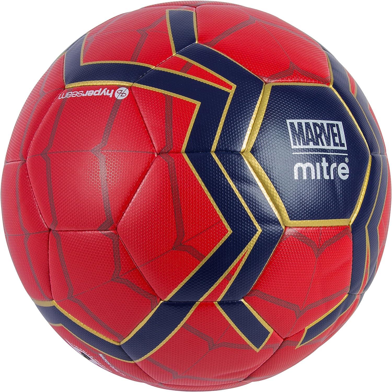 Mitre Spiderman - Balón de fútbol para niños, Color Rojo y Azul, 5 ...