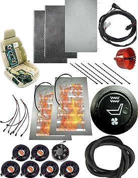 Agua Interruptor de 12 V redonda 1 calentador de asiento de carbono y con ventilación y