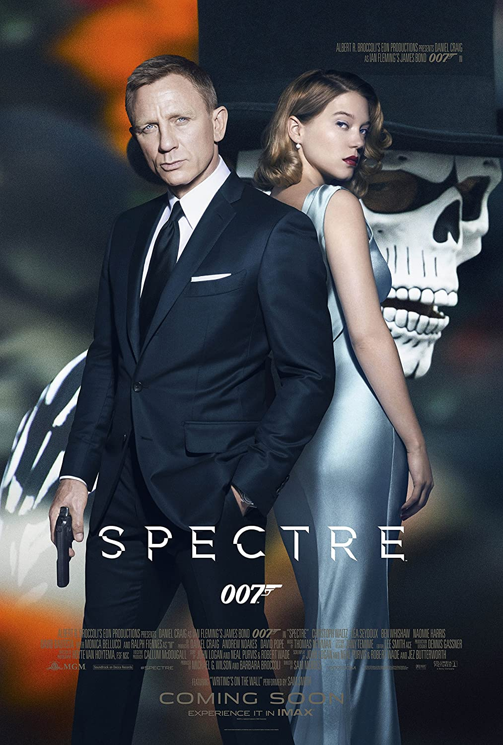 "Amazon.com: WMG Spectre - Movie Poster (24"" x 36"") Glossy Finish (Thick,  8mil): Daniel Craig, Monica Belluci, Lea Seydoux: Posters & Prints"