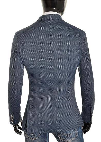 D R Fashion Blazer Uomo Blu Navy Casuale attività Commerciale Finitura  Rossa Slim Fit Giacca di Vestito Morbido Cotone  Amazon.it  Abbigliamento 80f02903cf7