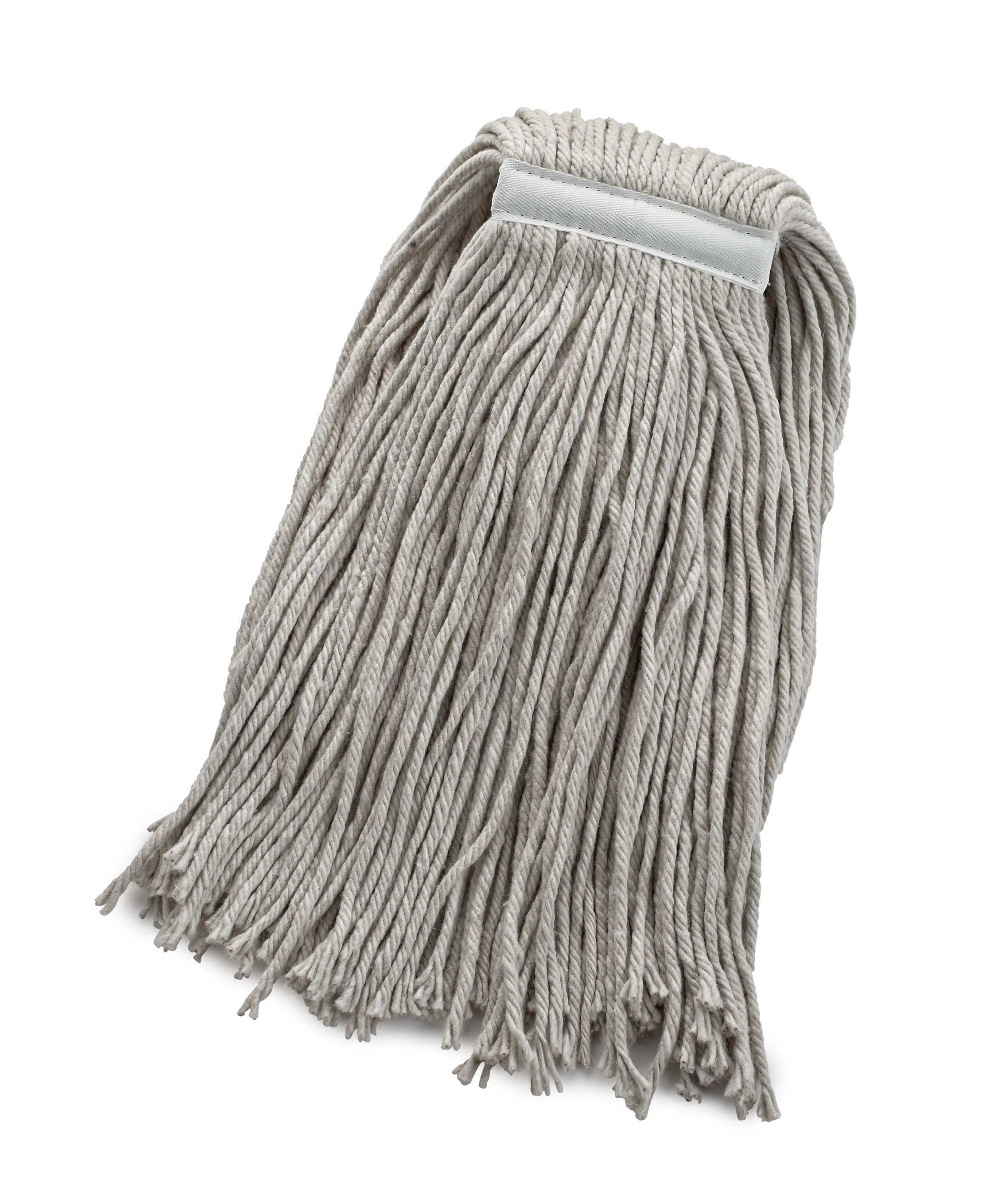 Bristles 32oz Wet Cut End Mop Head Replacement, 1 Inch Narrow Headband, 4 Ply Cotton, Full Weight, Pack of 12 (32 oz, White)