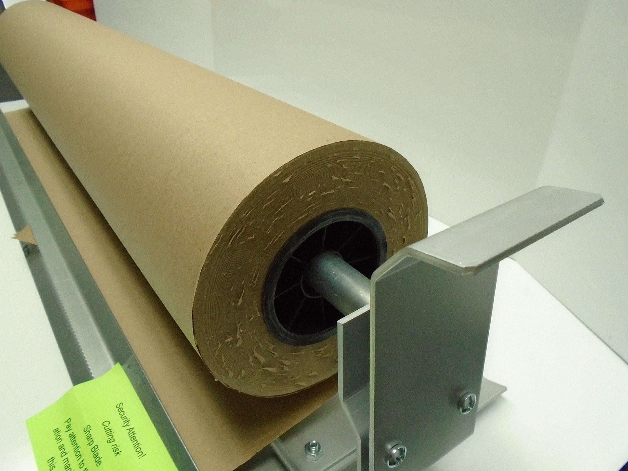 Paper Cutter Roll Dispenser Econoline 60 inches table mount Kraft paper Duralov by Duralov (Image #2)