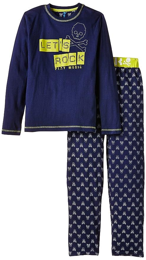 PY1-Pijama Niños, Azul (Marine) 12 años (Talla Fabricante: 12 años): Amazon.es: Ropa y accesorios