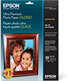 Epson S041946 Ultra Premium Glossy Photo Paper, 8 X 10, 20 Sheets Ink