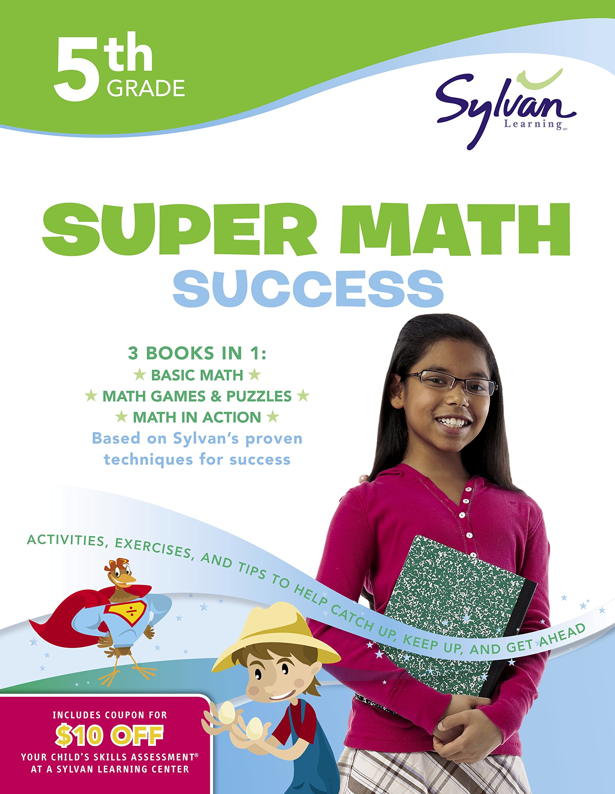 Worksheet 5th Grade Math Workbooks 5th grade super math success activities exercises and tips to help catch up keep get ahead sylvan workbook