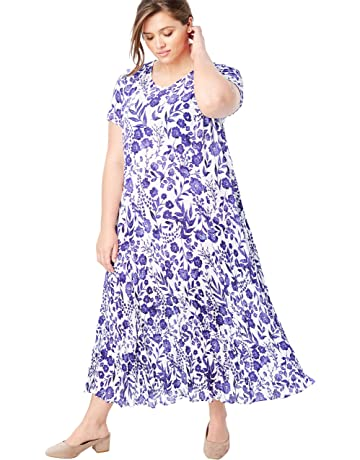 35411cb49ab0 Woman Within Women's Plus Size Crinkle Dress