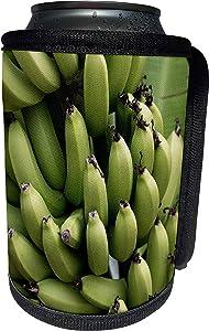 3dRose Danita Delimont - Food - French Polynesia, Mangareva, Rikitea. Close up of bunch of bananas. - Can Cooler Bottle Wrap (cc_228541_1)