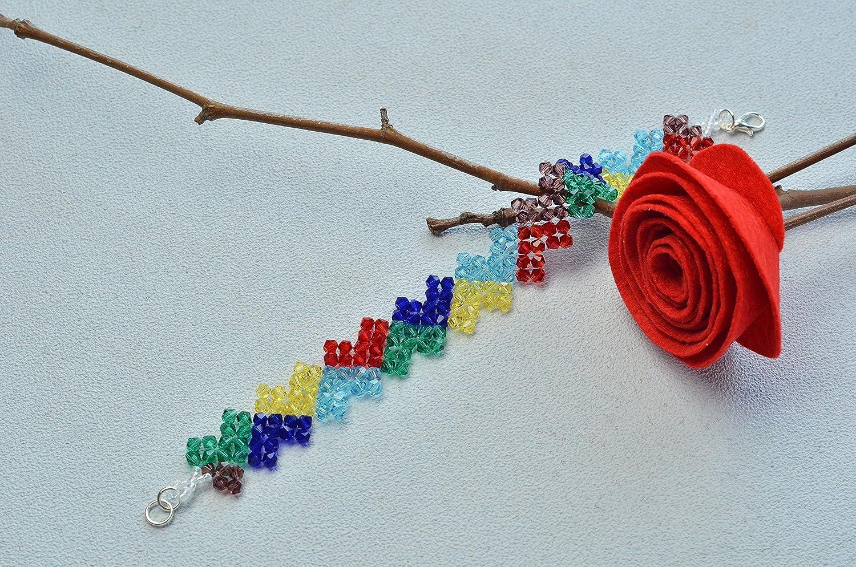 transparente Perlas para brazalete de manualidad Pandahall 1 rollo de est/ástico Crystal 100m//rollo 0.6mm