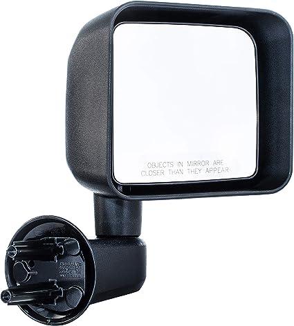 For 2007-2017 Jeep Wrangler Passenger Side Side Folding Manual Black Mirror