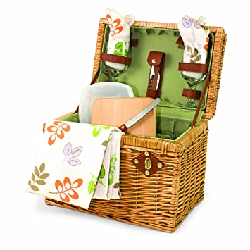 Picnic Time U0027Napau0027 Picnic Basket With Wine And Cheese Service For Two,  Botanica