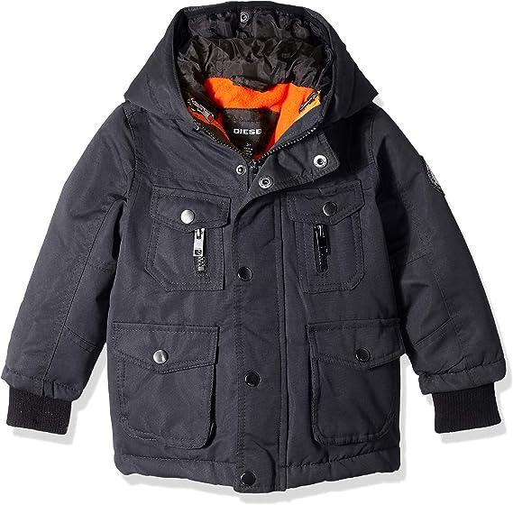 New Diesel Boys Hooded Down Puffer Jacket Size:16Y