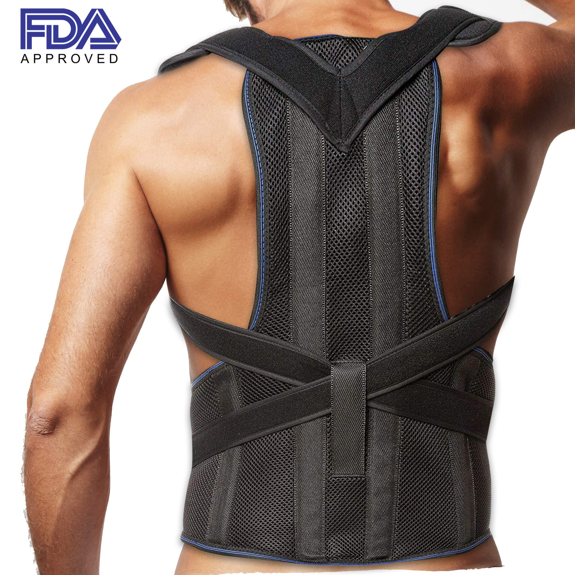 29d67450f2 Amazon.com  Posture Corrector Clavicle and Lower Back Support for ...