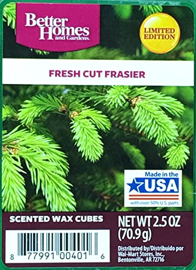 Amazoncom Better Homes and Gardens Fresh Cut Frasier Wax Cubes