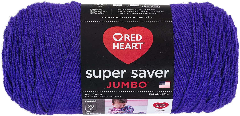 B004XSJYG6 Red Heart Super Saver Jumbo Yarn, Amethyst 91O1XCA1roL