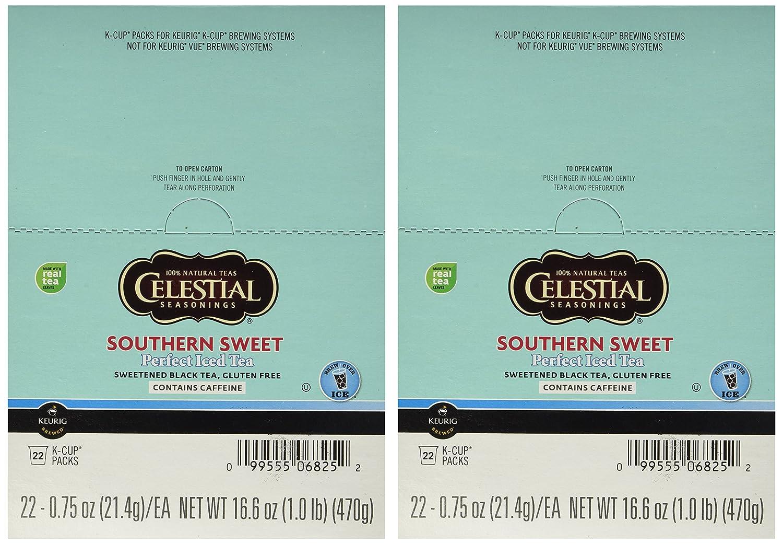 Celestial Seasonings Southern Sweet Tea 44 K-CUPS for Keurig Brewers