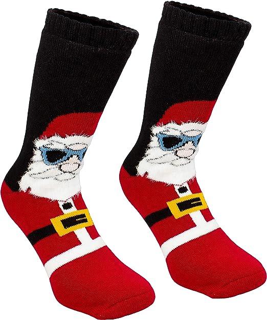 Brubaker uomini caldi ABS calze calzini di Natale - Babbo Natale