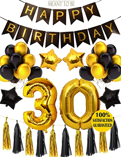 Amazon.com: Meant2ToBe 30th BIRTHDAY PARTY DECORATIONS KIT - 30th ...