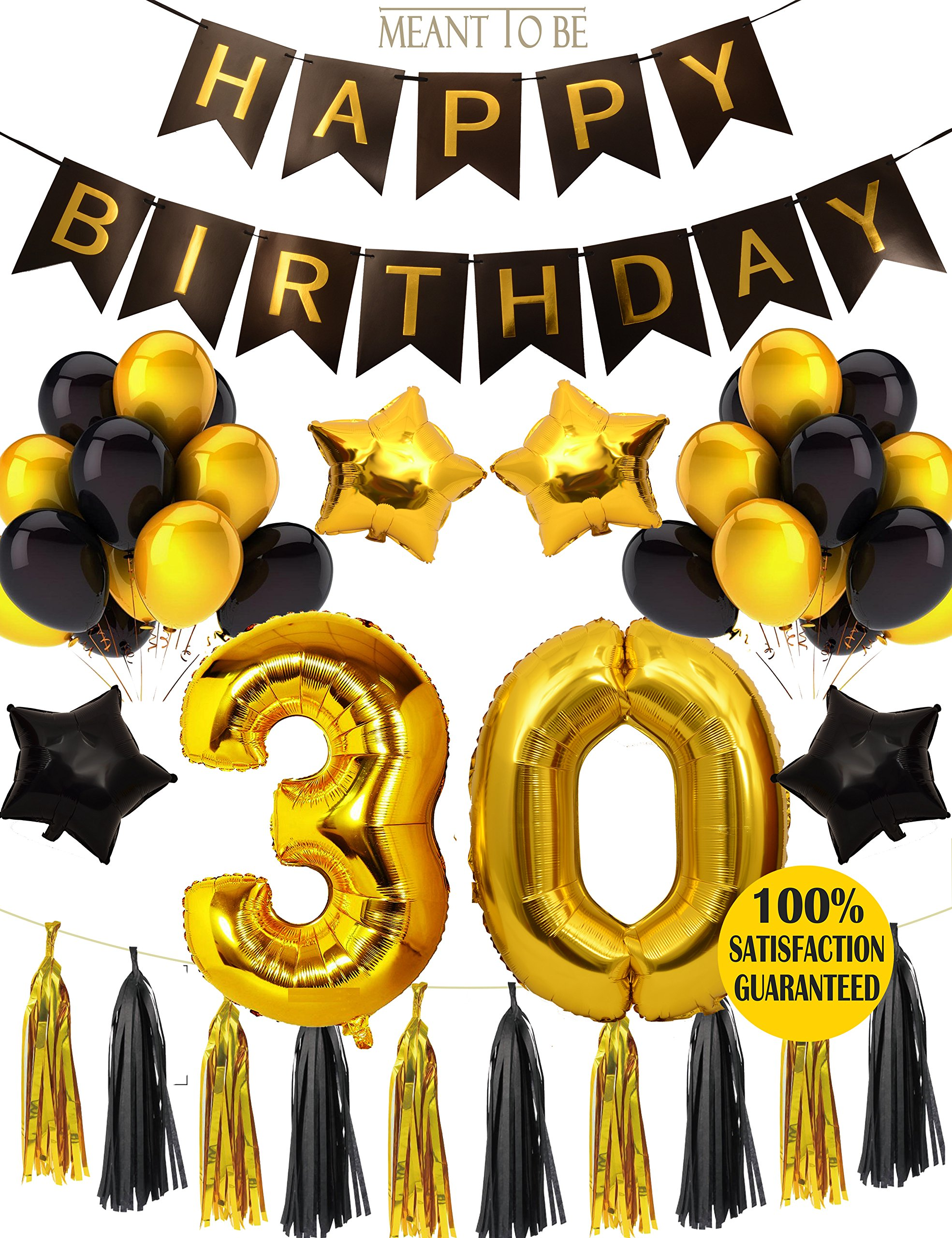 30th BIRTHDAY PARTY DECORATIONS KIT