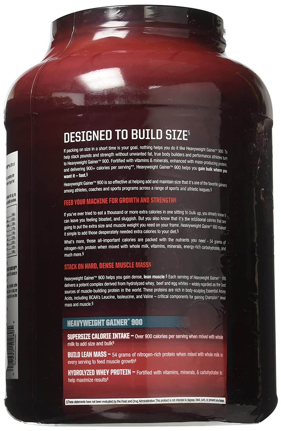 a65f86a2c11 Amazon.com  Champion Performance - Heavyweight Gainer 900 Protein Powder -  Chocolate Brownie - High Density Mass Gainer Sports Supplement