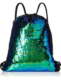 Winmany Mermaid Sequin Drawstring Backpack Glittering Outdoor Shoulder Bag b8f0812374a69