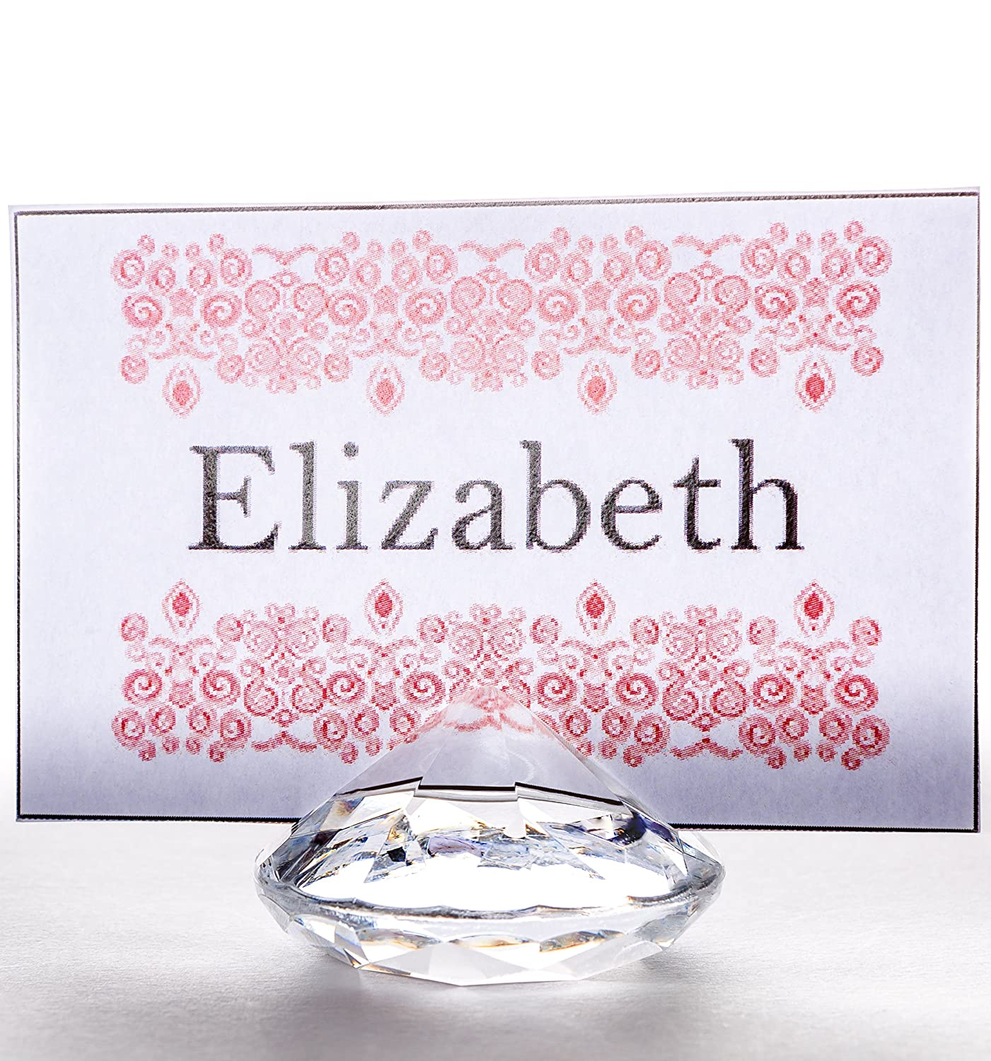 Amazon.com: CLEAR Diamond Table Number & Place Card Holder, Set of ...
