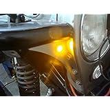 """7/8"""" Bright Amber LED Custom Turn Indicators Signal Jeep Tube Finders Street Rod"""