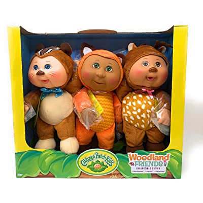 Cabbage Patch Kids Collectible Cuties Woodland Friends 3 Pack: Toys & Games