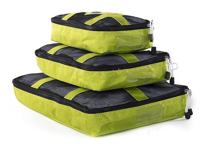 Mato & Hash - Organizador para maletas Mujer multicolor Lime/Black talla única