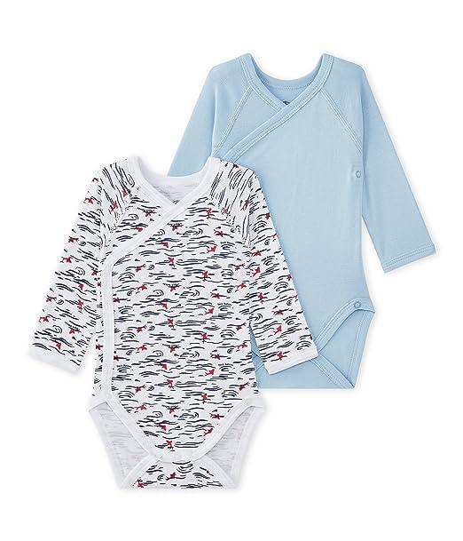 Petit Bateau X2 Nais ML Koi Abbr, Conjunto de Ropa Interior para Bebés, (
