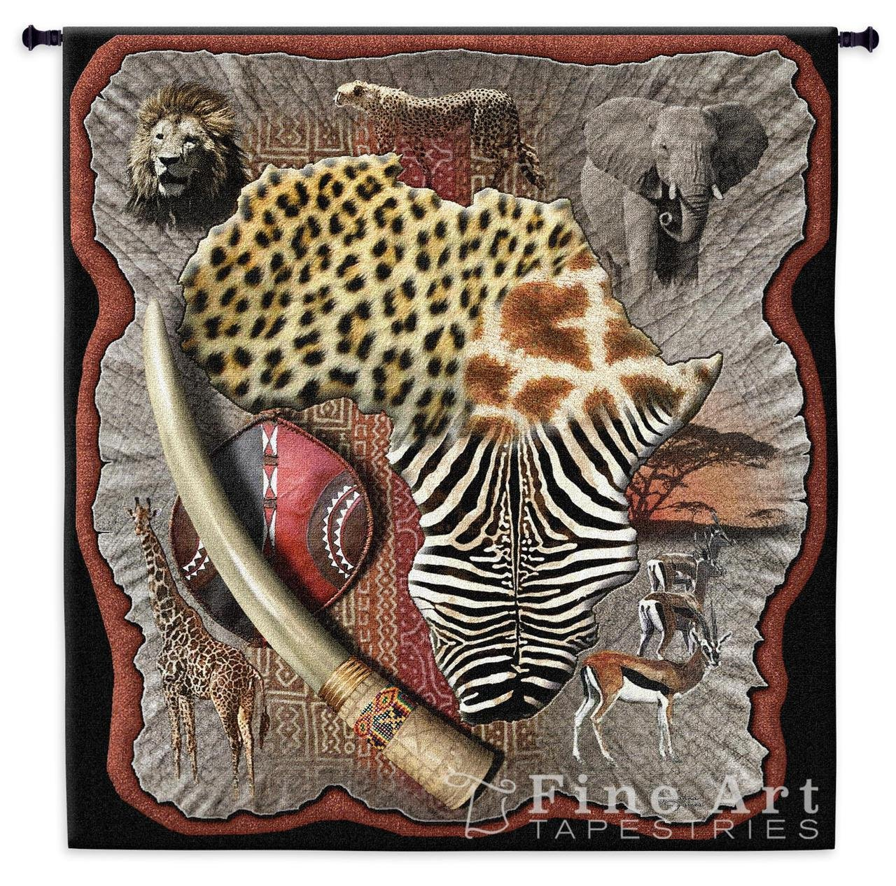 Africa Wall Tapestry - 53W x 51H in. by Pure Country