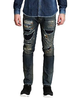 0cab9e8771a FAMOUS JEANS Men s Austin Heavy Vintage Ripped Cool Dude Jeans ...