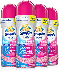 Snuggle Scent Shakes in-Wash Scent Booster Beads, SuperFresh Spring Burst, 13.7 Ounce (Pack of 4)
