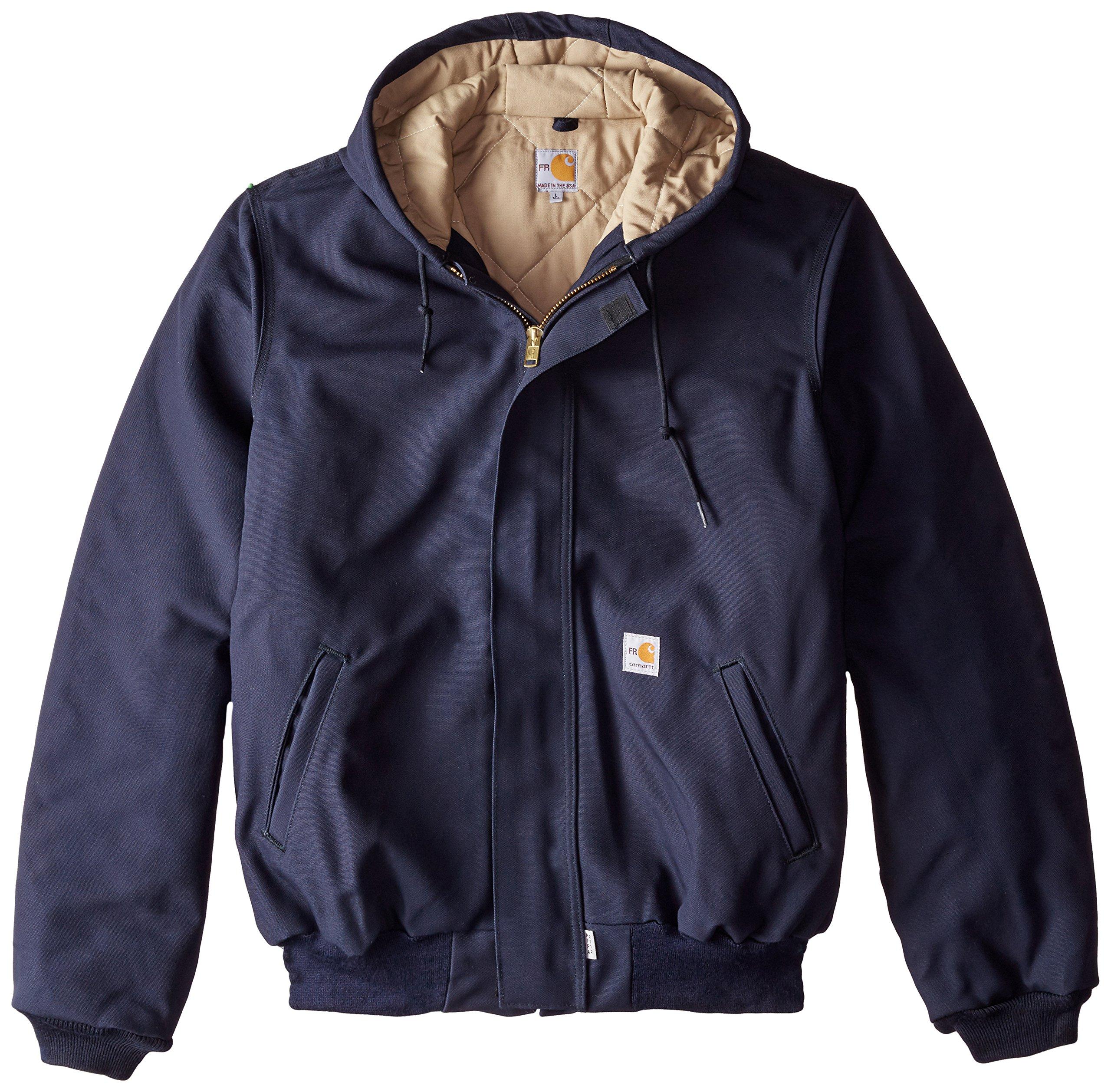 Carhartt Men's Big & Tall Flame Resistant Duck Active Jacket,Dark Navy,3X-Large/Tall