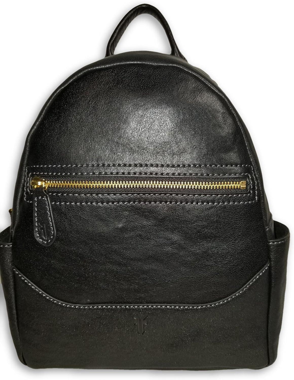 B07FK79WFQ FRYE Front Zip Leather Backpack, Black 91O2-vIY-zL.SL1500_