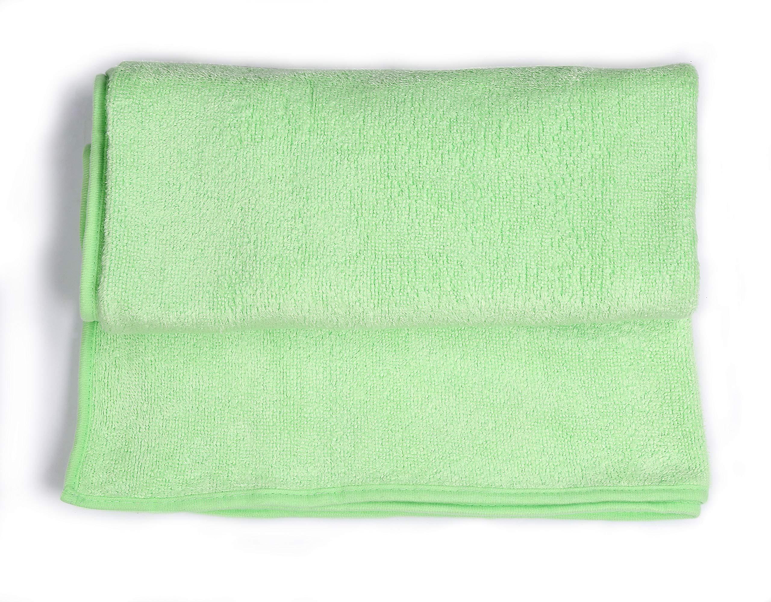 UNIC Bath Towel,Super Absorbent Quick Drying and Antibacterial,100% Microfiber,27''×55'', Multipurpose for Pool Gym Beach Bathroom Hotel Practical Bath Towel(Green)