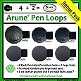 6x Arune Pen Loop - Adhesive pen holders - Designed for Moleskine, journals, planners, sketchbooks, & more