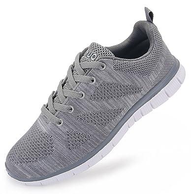 5e327e5e3aa48 vibdiv Men s Lightweight Lace-Up mesh Distance Running Shoes(7 D(M)